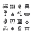 home decoration icons vector image vector image
