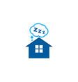 home sleep logo icon design vector image vector image