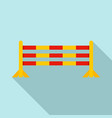 horse jump obstacle icon flat style vector image vector image