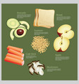 ingredient food vector image vector image