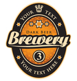 label with the inscription brewery vector image vector image