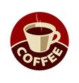 logo cup of black coffee vector image vector image