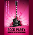 pink rock festival concert party poster vector image vector image