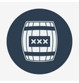 Pirate icon cask or barell Flat design vector image vector image