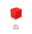 Red Box isolated on white background vector image vector image