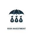 risk investment icon creative element design from vector image vector image