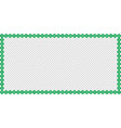 saint patricks day rectangle border made of clover vector image vector image
