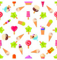 seamless pattern with many sweets vector image vector image