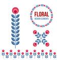Set of design elements - retro flowers vector image vector image