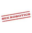 Sex Robotics Watermark Stamp vector image vector image