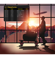 Silhouette people in the airport vector image vector image