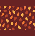 simple autumn pattern in orange colors on red vector image vector image