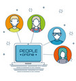 social network connecting people online vector image vector image