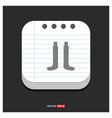 socks icon gray icon on notepad style template vector image
