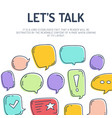 speech bubble talk traditional doodle icons vector image vector image