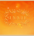 summer design with floral pattern vector image vector image