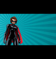 superheroine battle mode horizontal vector image vector image
