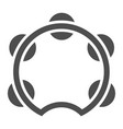 tambourine glyph icon musical and instrument vector image vector image