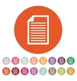 The document icon Notes symbol Flat vector image vector image
