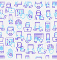 using devices seamless pattern vector image