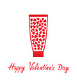 valentines day love card tube of cream with vector image vector image