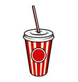 vintage colorful cinema soda cup template vector image vector image