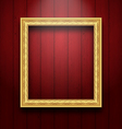 Vintage picture frame on wooden wall vector image vector image