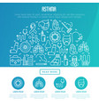 world asthma day concept with thin line icons vector image vector image