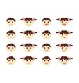 Children head icons vector image