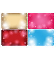 abstract backgrounds with bokeh - cards vector image