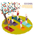 alternative learning isometric composition vector image vector image