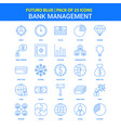 bank management icons - futuro blue 25 icon pack vector image vector image