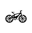 bicycle icon in flat style vector image vector image
