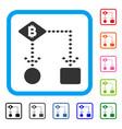 bitcoin algorithm scheme framed icon vector image vector image
