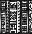 black and white tribal doodle seamless vector image vector image