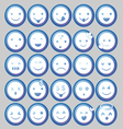 Blue Circle Emoticon vector image vector image