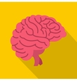Brain icon flat style vector image vector image