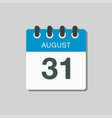 calendar icon day 31 august date days year