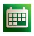 Calendar sign with shadow vector image