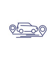 carsharing car rent service line icon vector image vector image