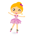 cartoon ballerina vector image