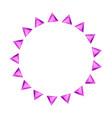 cartoon gem circle frame vector image vector image