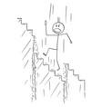 cartoon man or businessman walking up the vector image vector image
