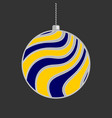 christmas ball in flat style on dark background vector image