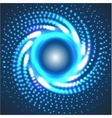 circle blue abstract techno background vector image vector image