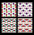 collection of pattern floral flowers natural vector image