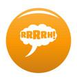 comic boom design icon orange vector image