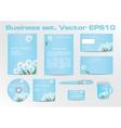 Corporative Business Set with Dandelion Depiction vector image
