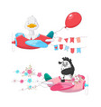 cute cartoon set air transport vector image vector image