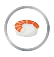 Ebi Nigiri icon in cartoon style isolated on white vector image